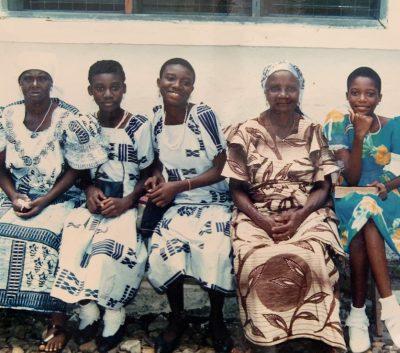 Grandma Lydia Clottey und Enkel
